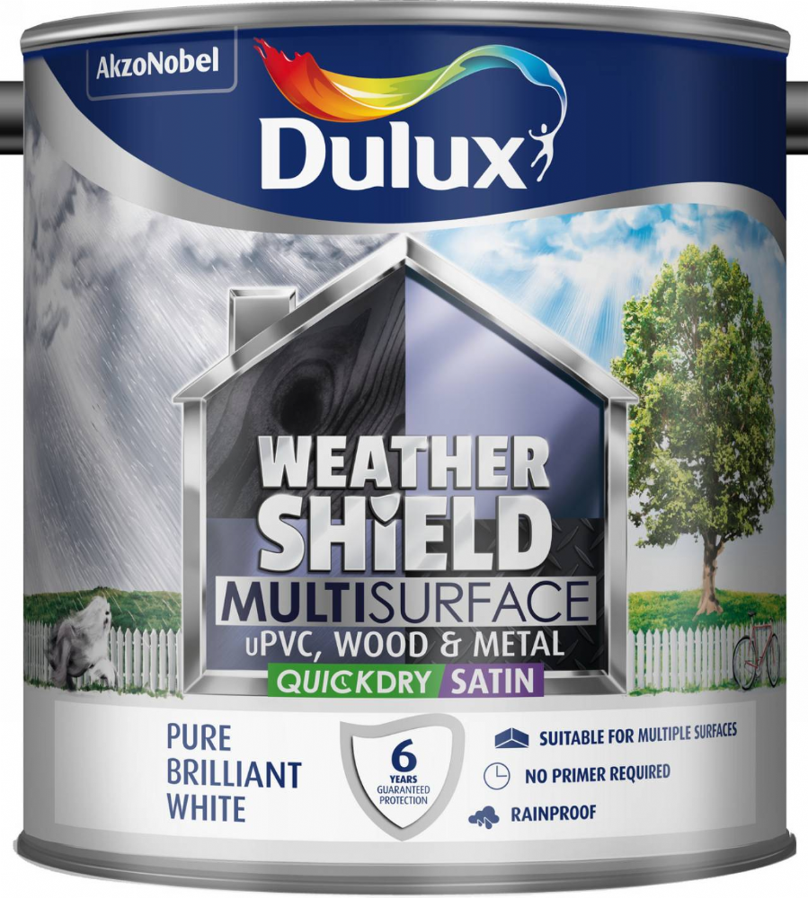 Dulux Weathershield Multi Surface Quick Dry Satin 2.5L